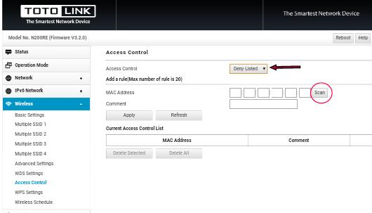Cara Memblokir Pengguna Wifi Yang Tidak Di Izinkan di Totolink N200re