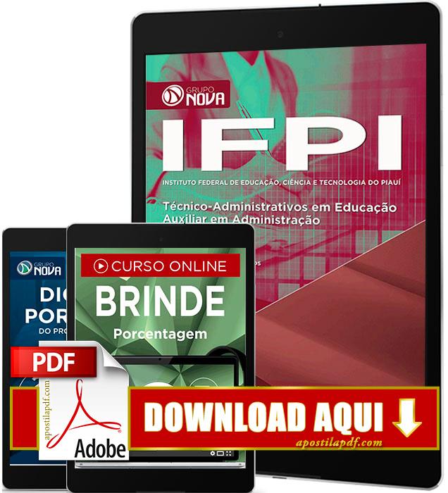 Apostila IFPI 2016 PDF Download Auxiliar em Administração