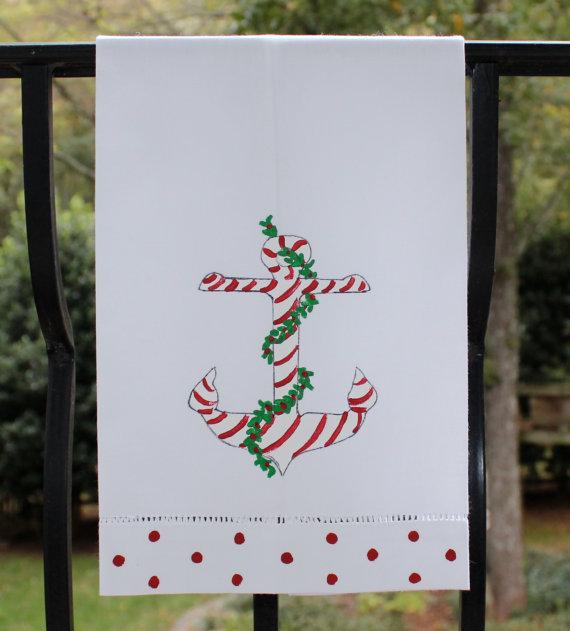 Nautical Guest Towels: Nautical By Nature: Coastal Christmas: Lemondaisy Design