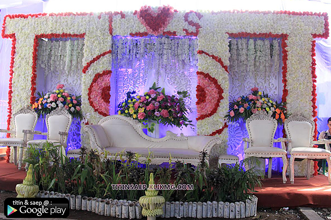 Dekorasi Pelaminan TITIN & SAEP - 08 Juli 2016 - KLIKMG Wedding Decoration