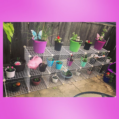 modular wire cube shelving from target to build container garden vertical space