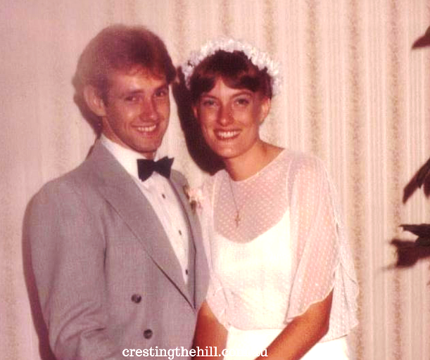 Looking back over 35 years of marriage - beginning, middle and latest