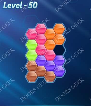 Block! Hexa Puzzle [Intermediate] Level 50 Solution, Cheats, Walkthrough for android, iphone, ipad, ipod