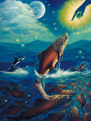 Save Our Salmon Friends Salmon Art