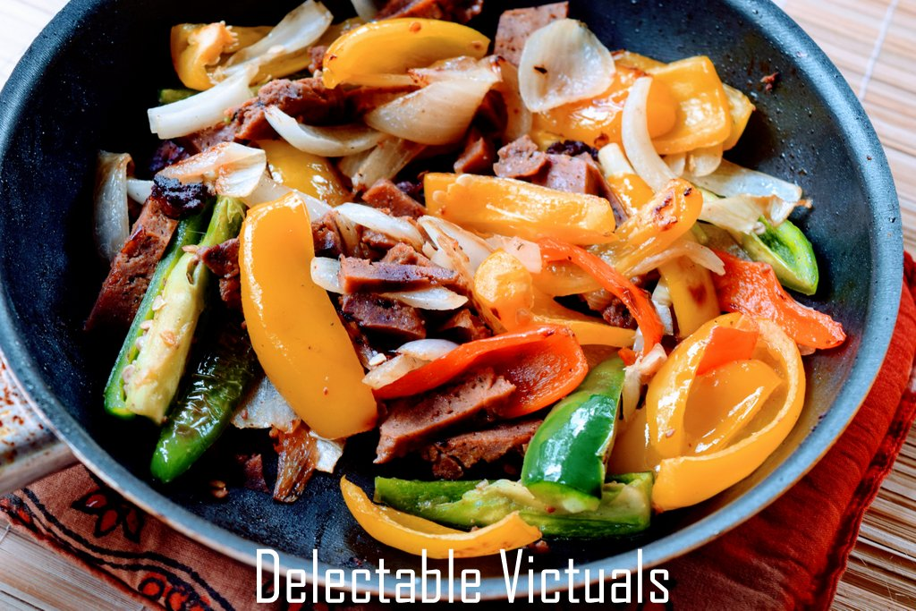 wheat meat delectable victuals vegetarian bulgogi fajita meatball