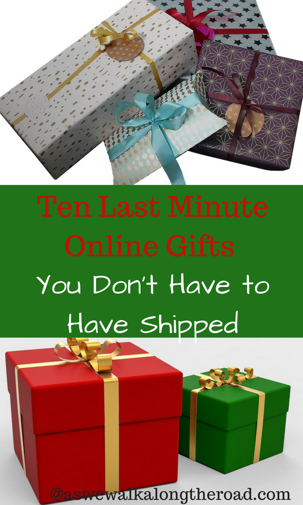 Last minute Christmas gifts that don't have to be shipped