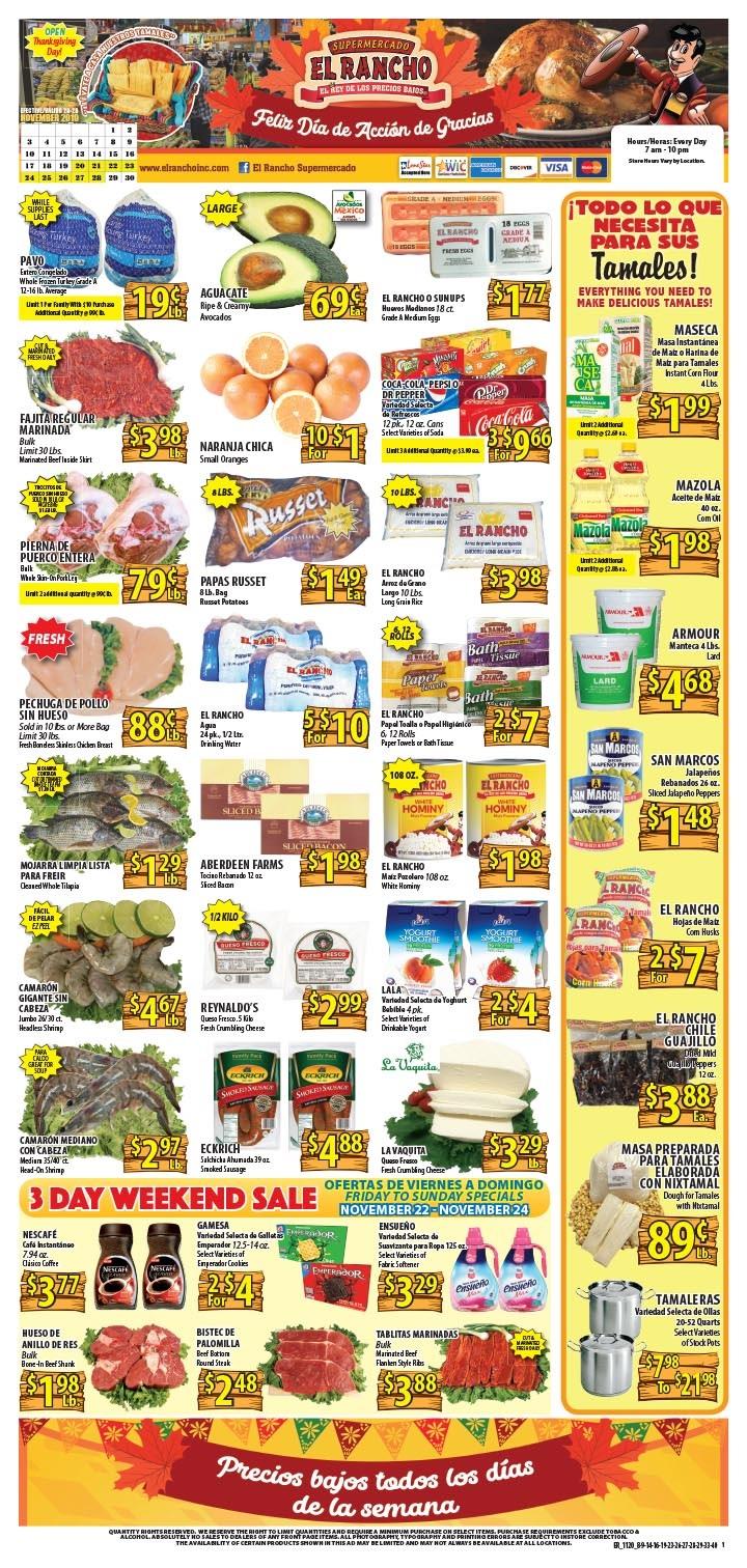 El Rancho Weekly Ad