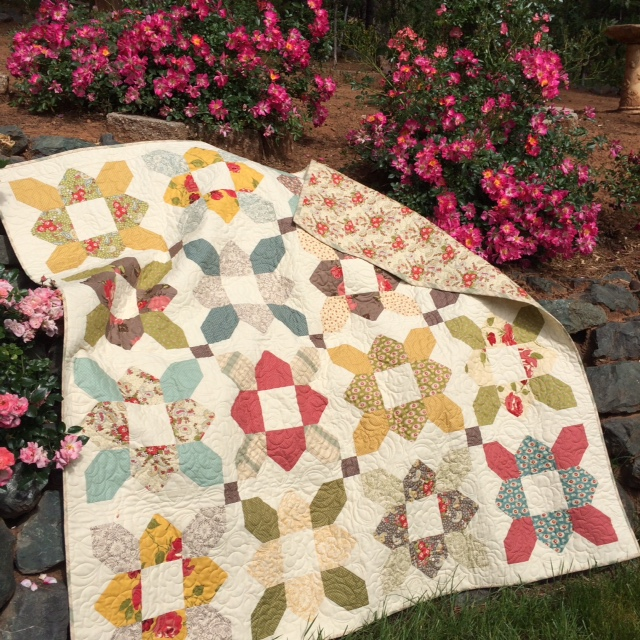 Cozy Little Quilts Urban Cowgirl Prairie Flower Quilt Is