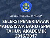 Penerimaan Mahasiswa Baru STSN TA 2016/2017