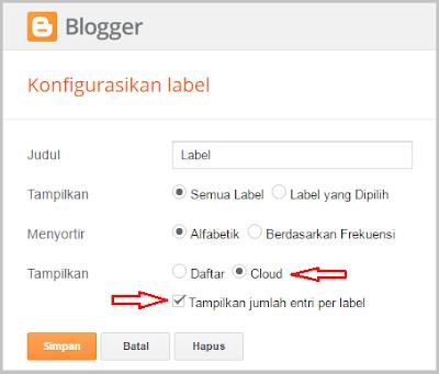 Pada artikel sebelumnya telah dibahas wacana  Cara Membuat Widget Label Keren Di Blog