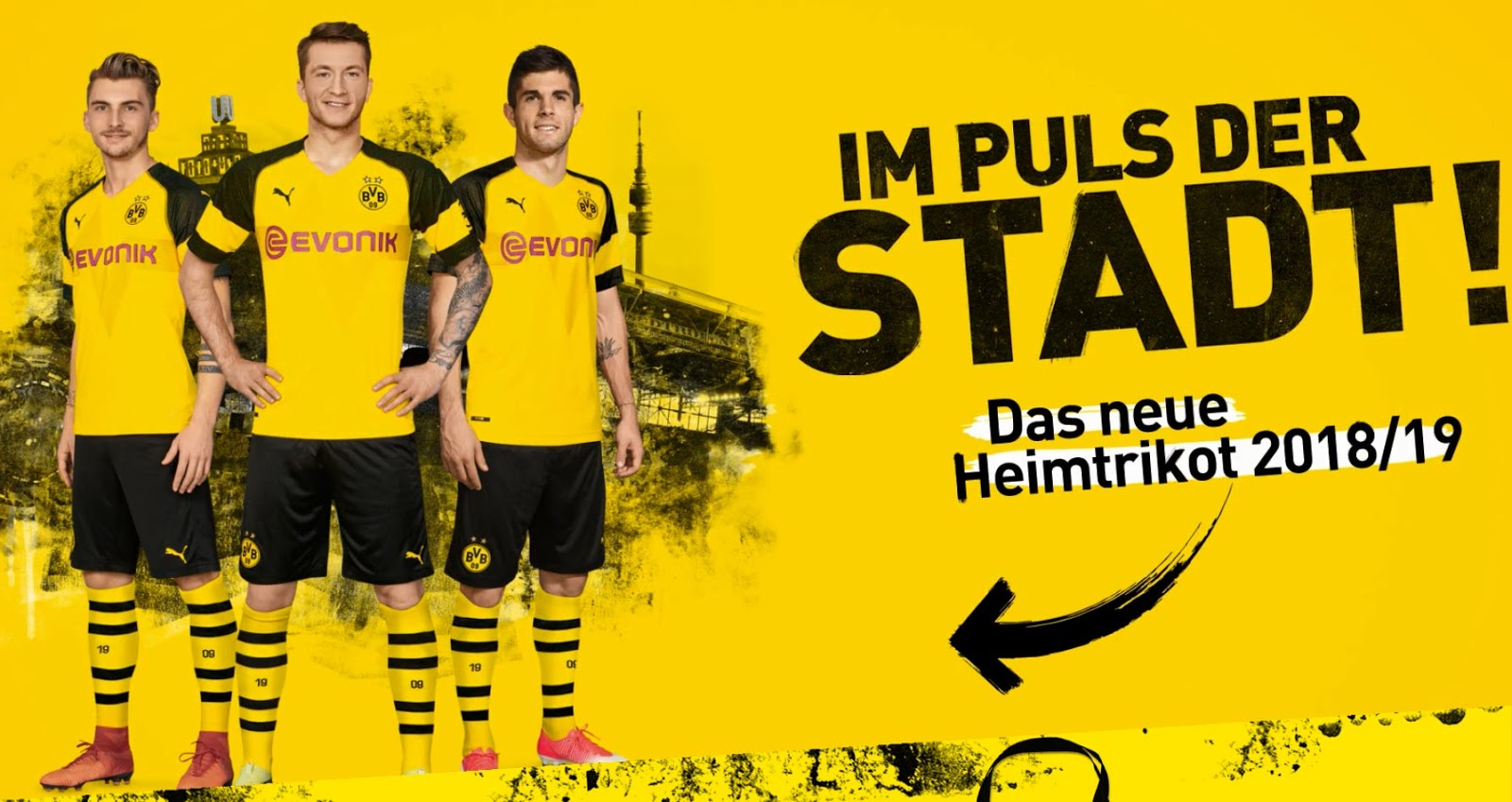 new product 2a159 645c6 Borussia Dortmund 18-19 Home Kit Released - Footy Headlines