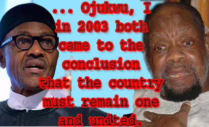 Buhari and Ojukwu discussed unity of Nigeria