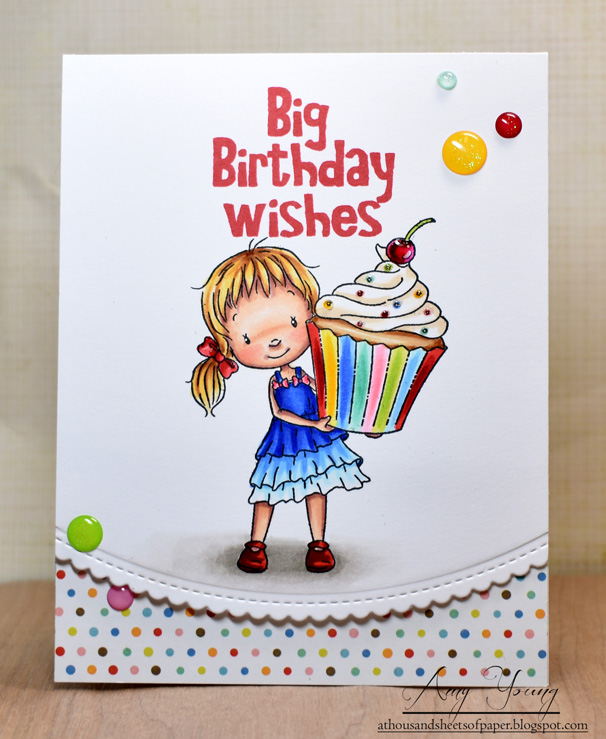 In A Background For Her But The End Clean White Space Is Much More Effective Result Bright And Happy Birthday Card That Makes Me Smile