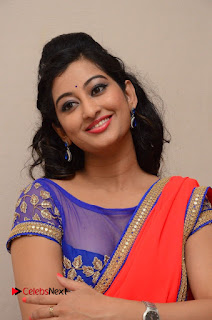 Actress Tejaswini Pictures in Saree at Pratikshanam Audio Launch  0005.JPG
