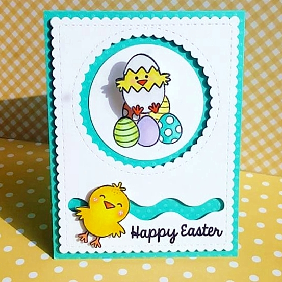 Sunny Studio Stamps: A Good Egg Slider Interactive Easter Card by Amy Y