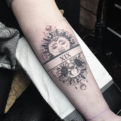 24+ Pretty Sun and Moon Tattoo Ideas To Copy This Summer