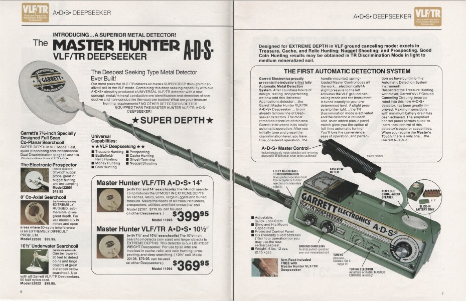 Garrett Detector Tr Vintage Hunter Master Metal Vlf