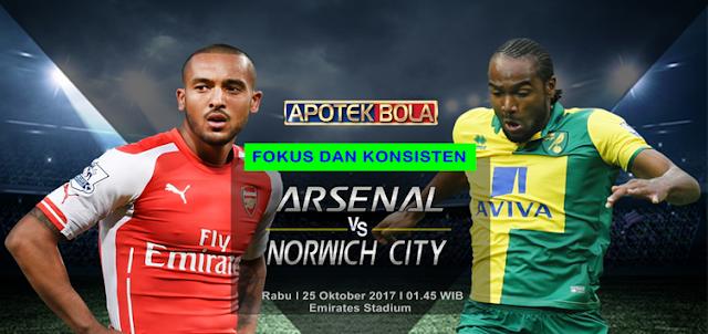 Prediksi Pertandingan - Arsenal vs Norwich City 25 Oktober 2017