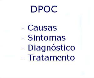 DPOC doença pulmonar obstrutiva crônica causas sintomas diagnóstico tratamento prevenção fatores risco