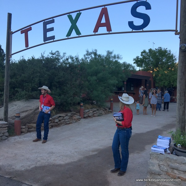 entrance to Texas--The Musical at Palo Duro Canyon State Park in Canyon, Texas