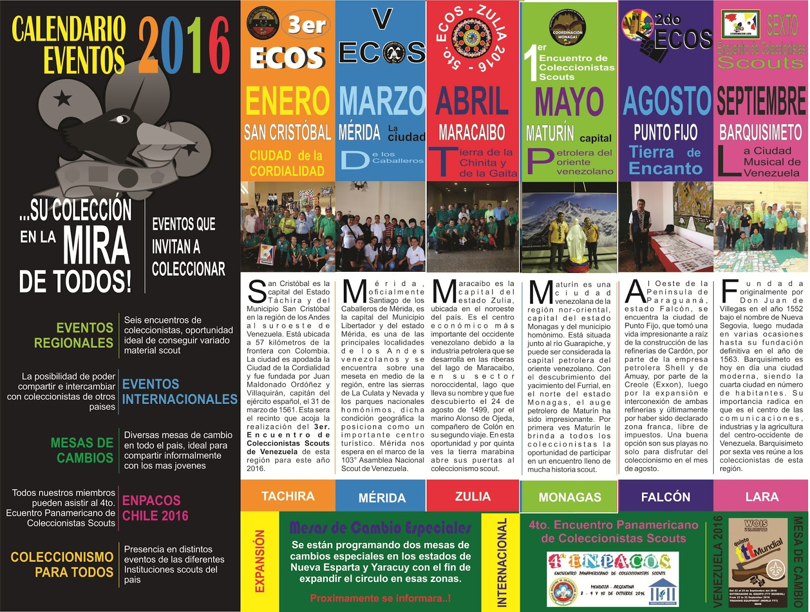 Calendario De Actividades Eventos: Circulo Del Coleccionista Scout De Venezuela: CALENDARIO