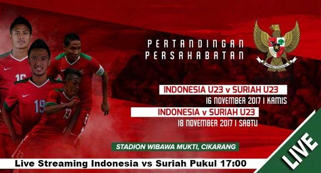 live streaming indonesia vs suriah 18 november 2017