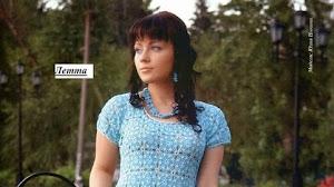 Vestido azul tejido con ganchillo