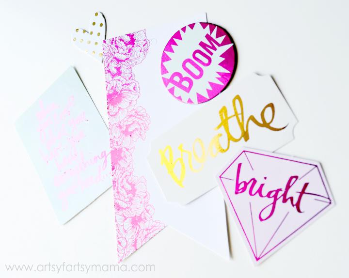Easily add foil to Heaidi Swapp Minc accessories at artsyfartsymama.com #HSMinc