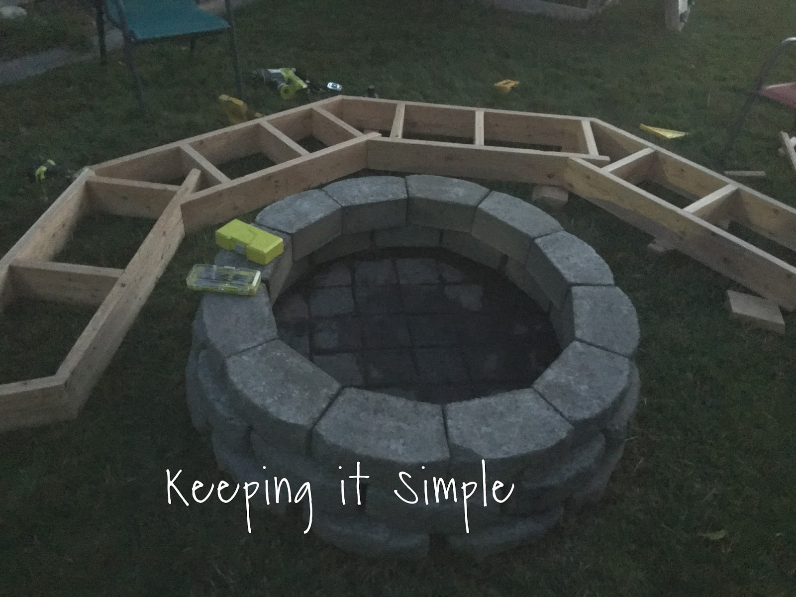 diy fire pit sofa bench with step by step insructions keeping it