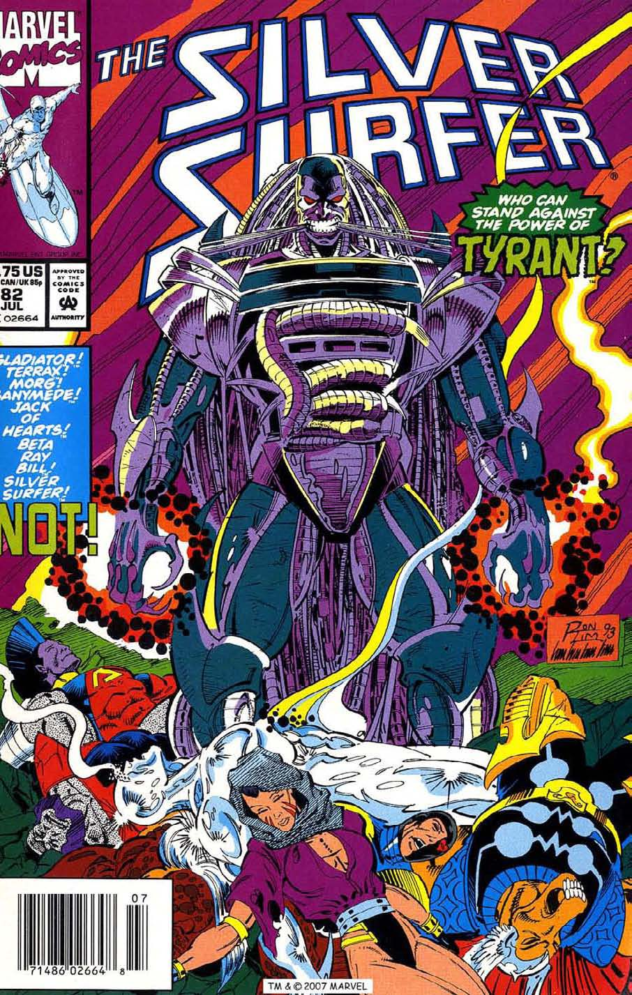 Read online Silver Surfer (1987) comic -  Issue #82 - 1