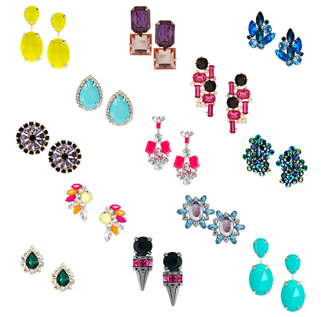 ASOS big, bright statement earrings