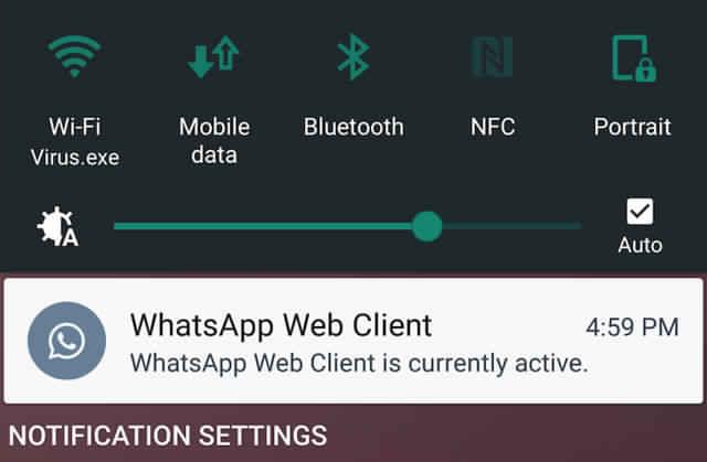 واتساب يخطط لإرسال إشعار للهاتف عند استخدامه عبر إصدار سطح المكتب