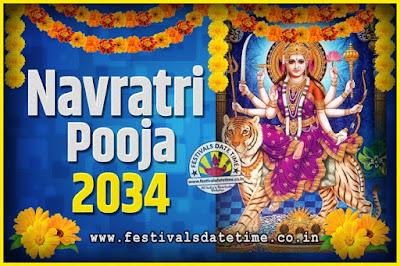 2034 Navratri Pooja Date and Time, 2034 Navratri Calendar