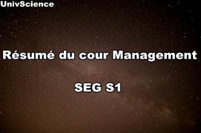 Résumé du cour Management SEG S1