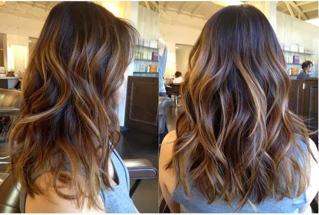 chestnut hair color for brunette hair with caramel highlights