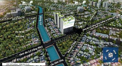 Vị trí dự án chung cư 176 Định Công.
