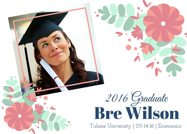 graduation photo and floral frame