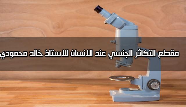 التكاثر الجنسي عند الانسان للسنة الاولى متوسط الجيل الثاني استاذ خالد محمودي