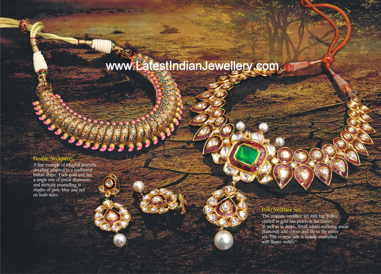 Mughal Inspired Indian Gold Jewellery