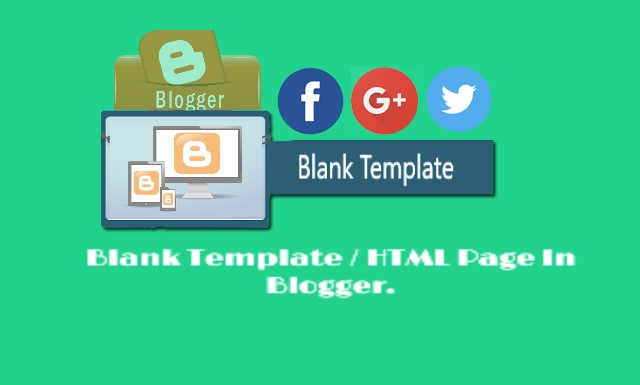 Blank Template Html Page In Blogger 4tipsbd