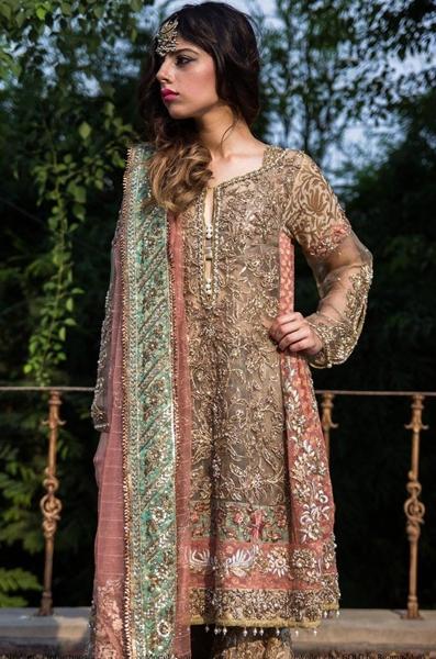 c207b2cf917 fashionupdates130  Nickie Nina Neh shikar Party Wear Lehenga Style Frock  Design 2015
