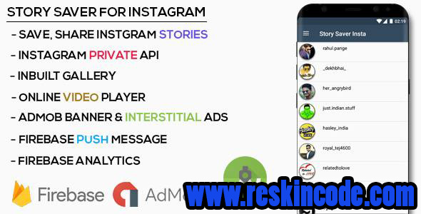 Instagram Story Downloader Source Code Android Codecanyon