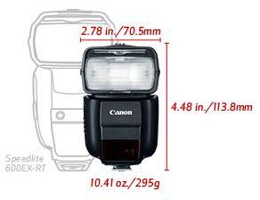 New Canon Speedlite 430EX III-RT Flash dimensions (Image Canon USA)