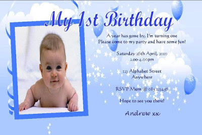 Contoh Undangan Ulang Tahun Pertama Anak