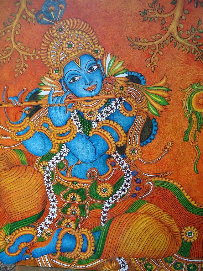 ദേവകല Mural Paintings Mural Painting Krishna