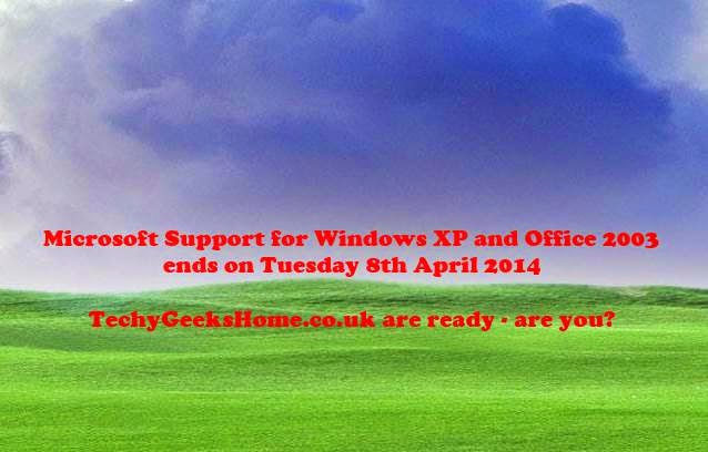 Windows XP & Office 2003 Support End - What can we do? 1