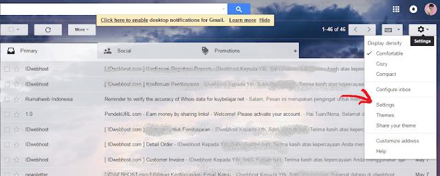 Cara Merubah Atau Memasang Tema Gmail