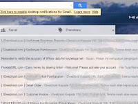 Cara Mudah Mengganti Atau Memasang Background/Tema Gmail