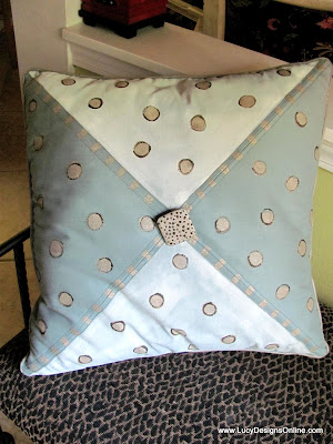 hand painted seashell pillow