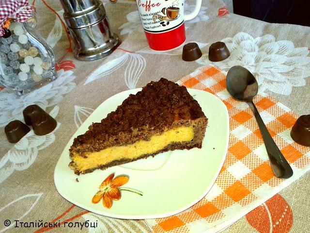 рецепт сирника на пісочному тісті з какао